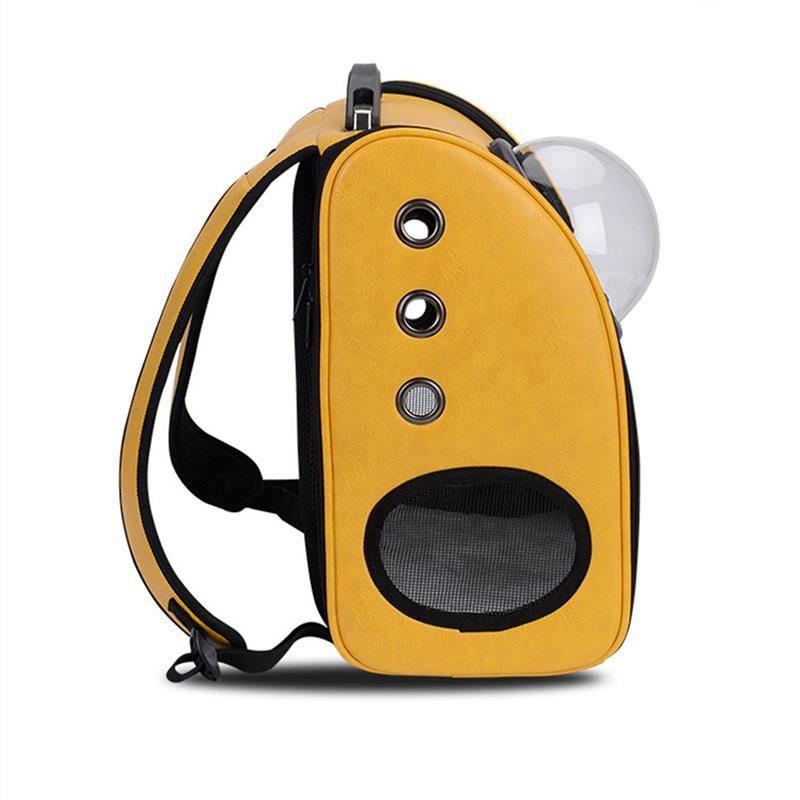 Pet Bag BackSpace oker, leuke rugzak om je huisdier te vervoeren