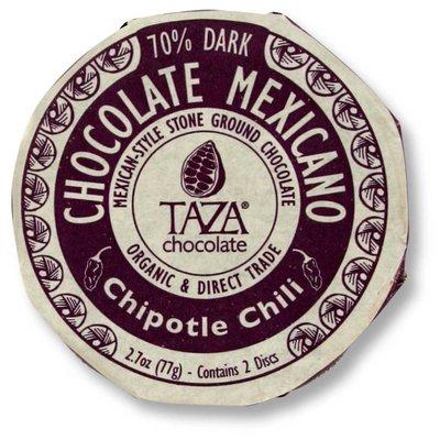 Taza Chocolate Dunkle Bio-Schokolade 50% Chipotle Chili