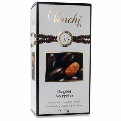 Venchi Haselnusskrokant in dunkler Schokolade Nougatine