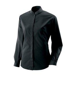 Exner Dames blouse met lange mouw en staande kraag - PANDORA