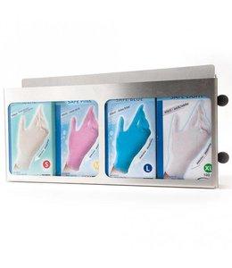 Hygostar Handschoen dispenser roestvrijstaal voor 4 verpakkingen - DAMIR