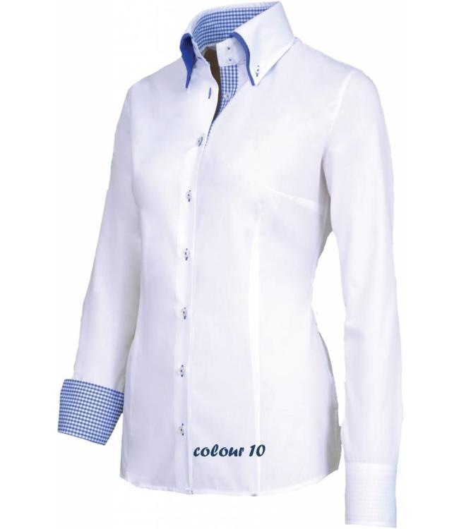 Uitzonderlijk Luxe italiaanse dames blouse, met knoopsluiting, button-down kraag  WQ76