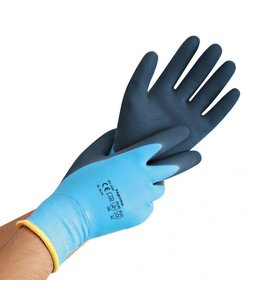 Hygostar Thermische winter werkhandschoen wet protect latex gecoat - KENAU