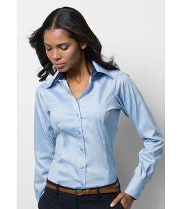 kustom kit dames blouse met lange mouw - ALEXI