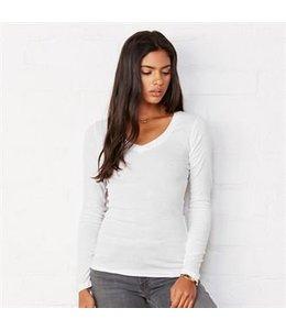 Bella Dames V-nek t-shirt met lange mouwen - ANITA