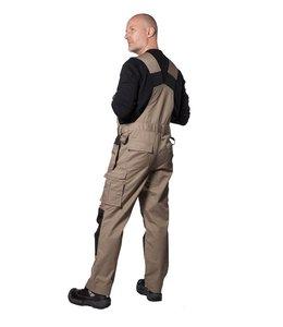 Prio/Projob Bodybroek  in easycare materiaal van polyester/katoen met verstelbare en elastische schouderbanden - ALCO