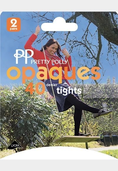 Pretty Polly 40D. Opaque Tights in 2 paar pak