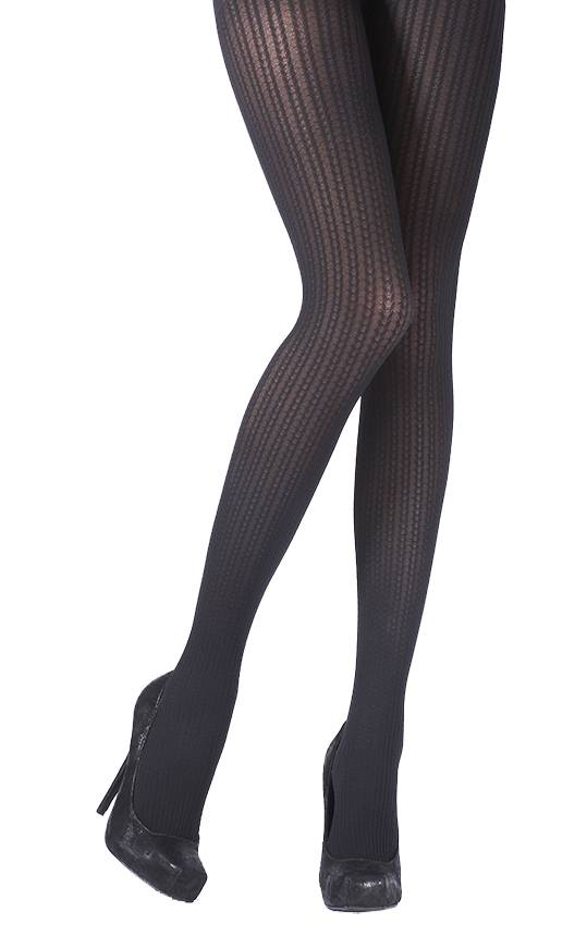 Pretty Polly Fashion Chevron Cable Opaque Panty