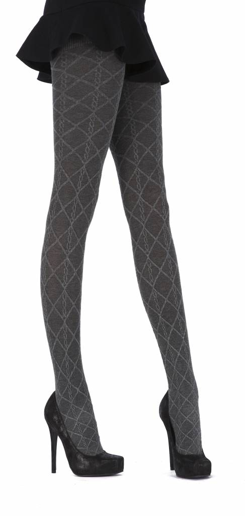 Pretty Polly Diamond Opaque Cable Tights