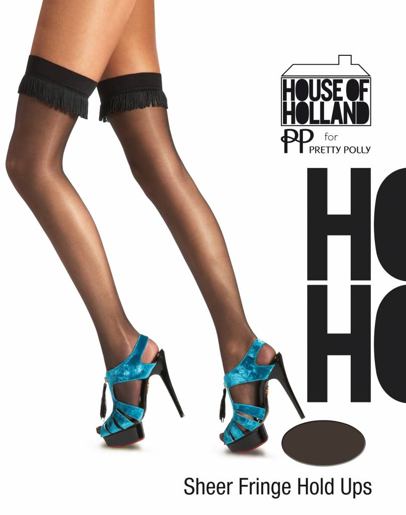 House of Holland Sheer Fringing Hold Up's
