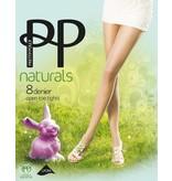 """Pretty Polly 8D. """"Naturals"""" Open teen zomer panty voor in een open schoen."""