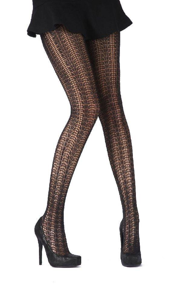 Pretty Polly Feathery Chevron Tights