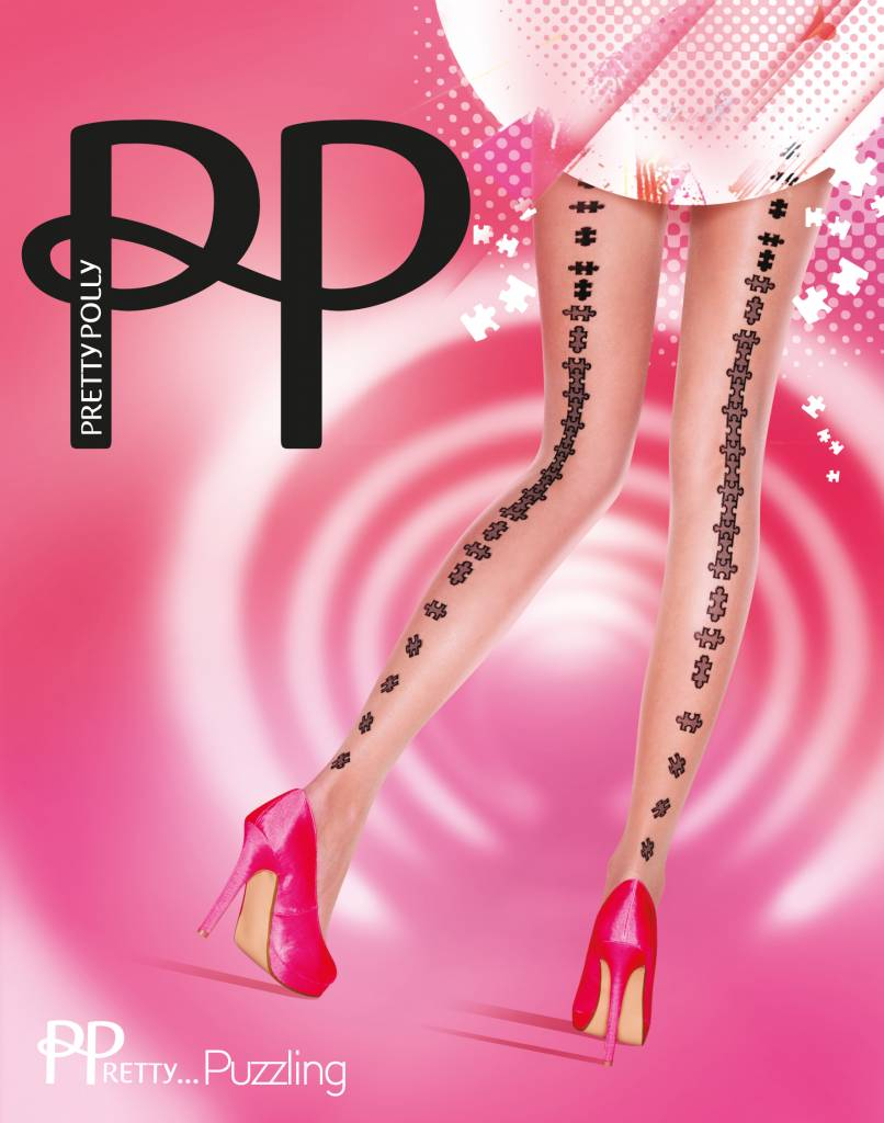 Pretty Polly Puzzle Backseam Tights