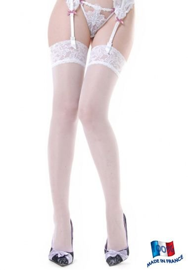 Clio Suspender Stockings with Lace Top