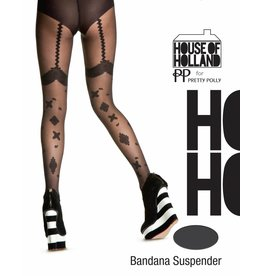 House of Holland Bandana Suspender Tights