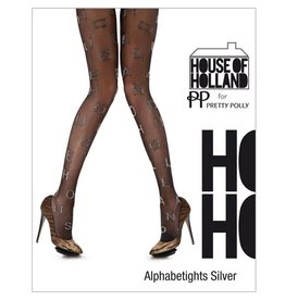 House of Holland Alphabet Silver Tights