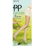 "Pretty Polly 8D. ""Naturals"" zomer Kniekousje (2 paar)"