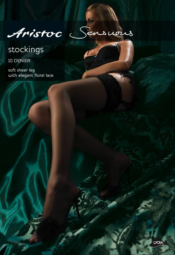 Aristoc 10D. Lace Top Stockings