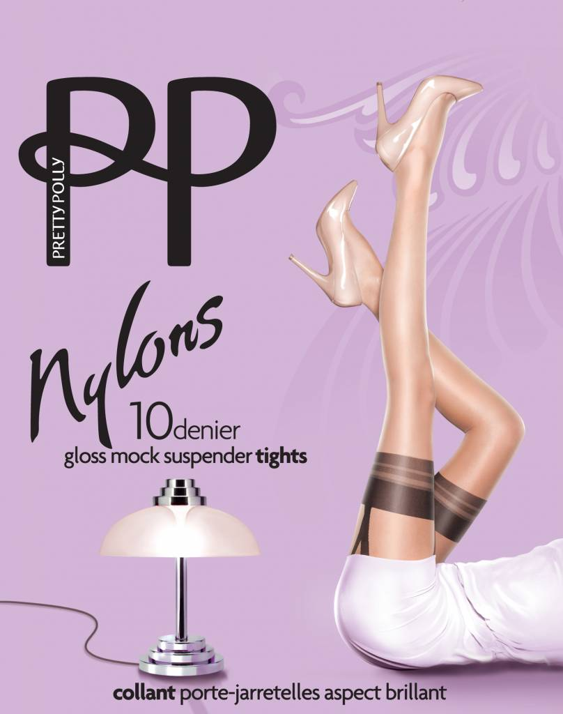 "Pretty Polly 10D. ""Nylons"" Suspender Tights"