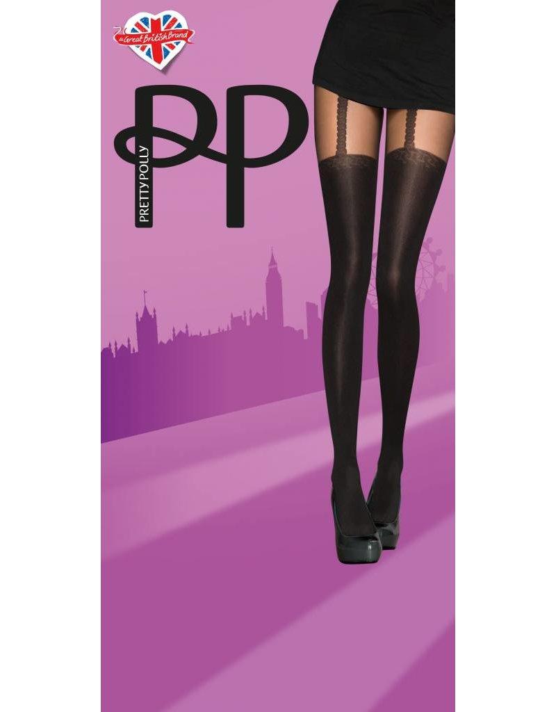 Pretty Polly Opaque Chain Suspender Tights