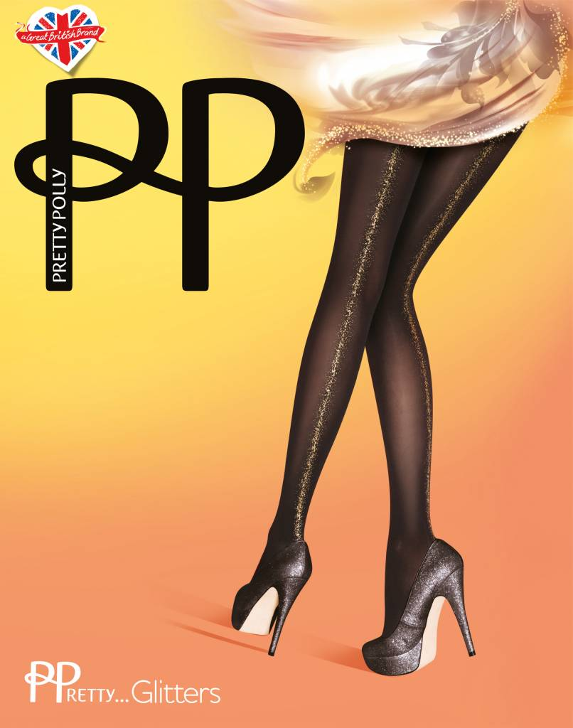 Pretty Polly Gold Backseam Opaque Panty
