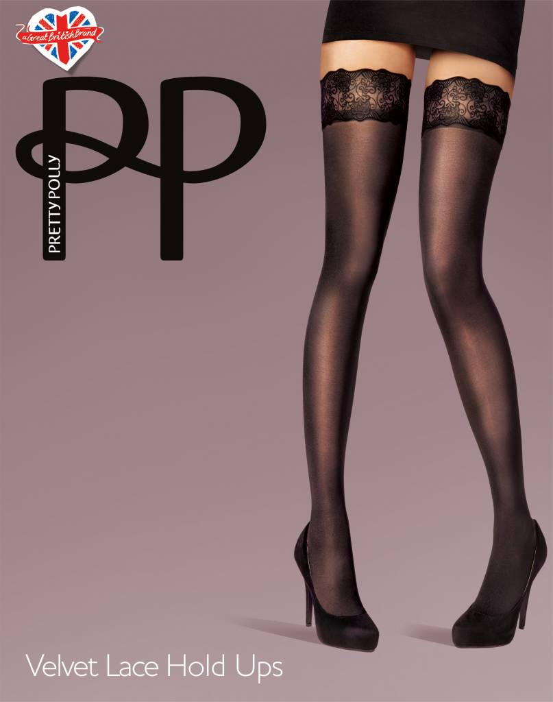Pretty Polly Velvet Lace Hold Ups
