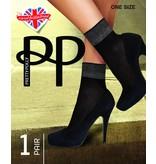 Pretty Polly Sheer Lurex Welt Anklet socks