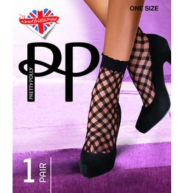 Pretty Polly Cris Cros Net Anklet