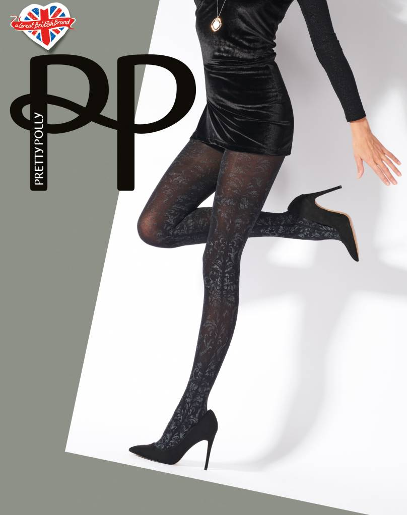 Pretty Polly Silver Print Tights