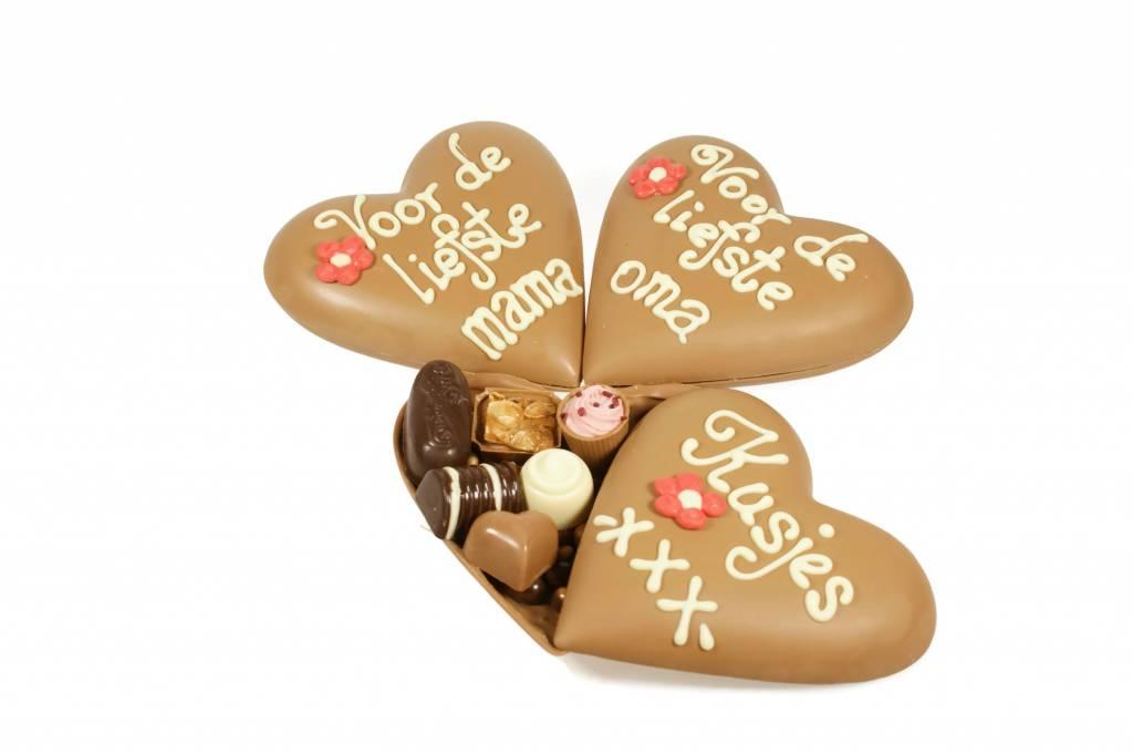 Klein moederdaghart met bonbons