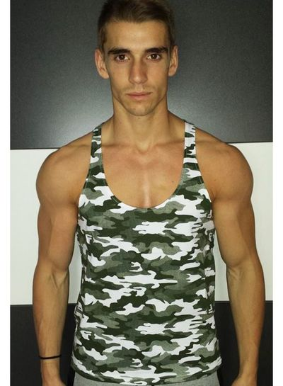 DYEH  Collection Camo Green Singlet