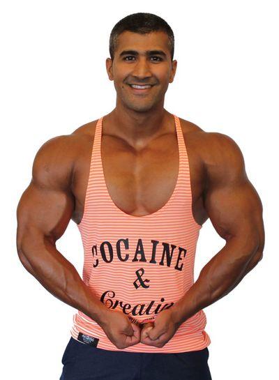 Hoistwear Cocaine&Creatine Striped Rosé size M