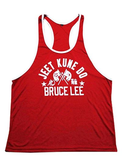 Fight Club Bruce Lee Red Tanktop size S