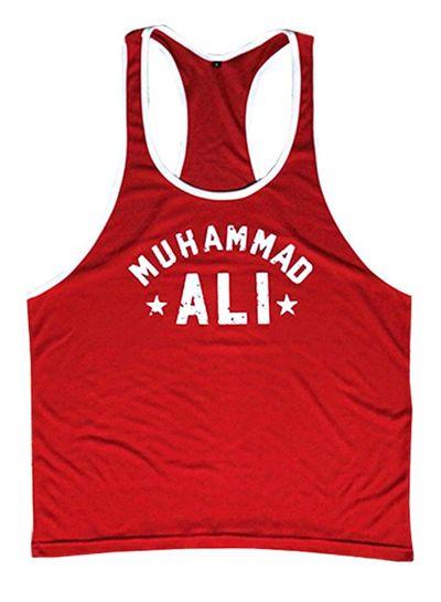 Fight Club Muhammad Ali Red Tanktop S/M/XL