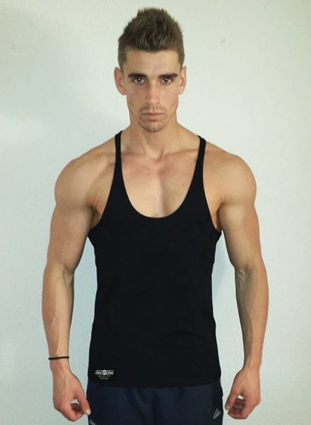 DYEH  Collection Plain Black Singlet
