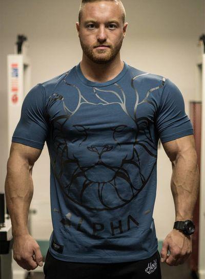 Hoistwear Alpha V2 Navy Fitted T-Shirt  size S