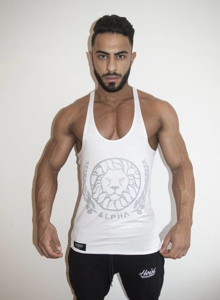 Elite Alpha White Singlet restocked