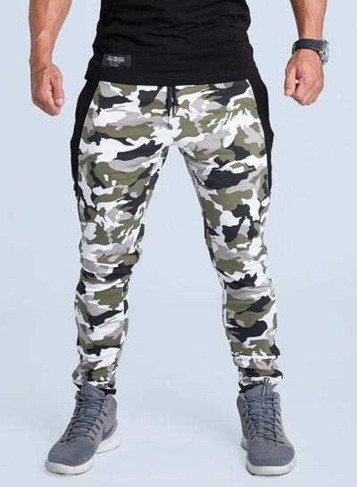 Fitted Bottoms Camo White