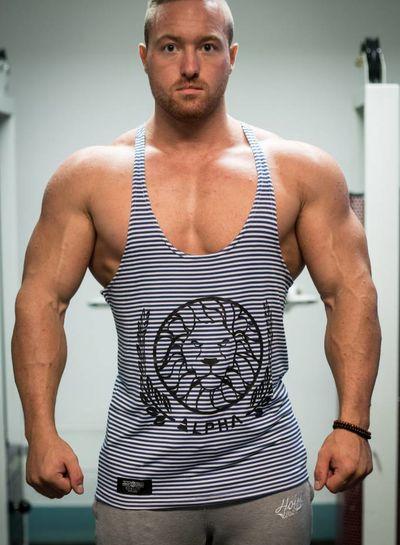 Alpha Striped White/Blue size S & L
