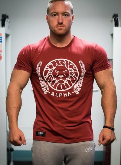 Alpha Fitted T-Shirt Maroon
