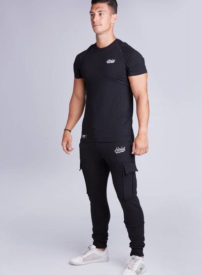 Premio Ribbed Jogger Black