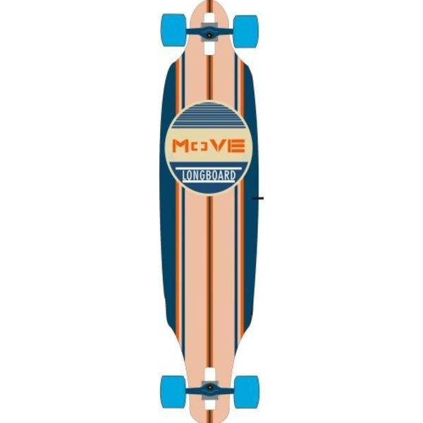 Move Longboard Move twin: Classic Blue 104 cm/ABEC7