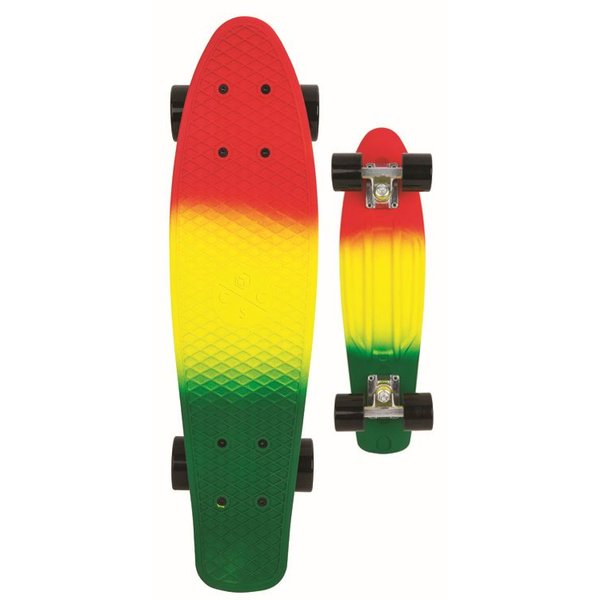Coolshoe Skateboard Cool Shoe single: Retro Rasta 57 cm/ABEC7