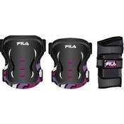 Beschermset Fila junior zwart/roze