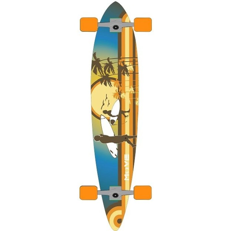 Longboard Move pin: Flat Beach 107 cm/ABEC7