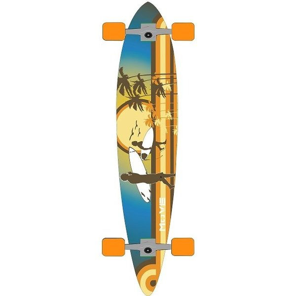 Move Longboard Move pin: Flat Beach 107 cm/ABEC7