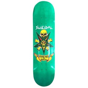 "Suicidal Skates PTS Street Skateboard Deck 8.125"" x 32.25"" (Green)"