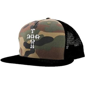 Dogtown Hat Mesh Embroidered Cross Letters Camo