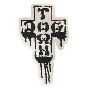 "Dogtown Sticker Cross Logo Drip Large (18"" tall)"