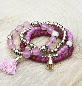 Armbandenset Roze